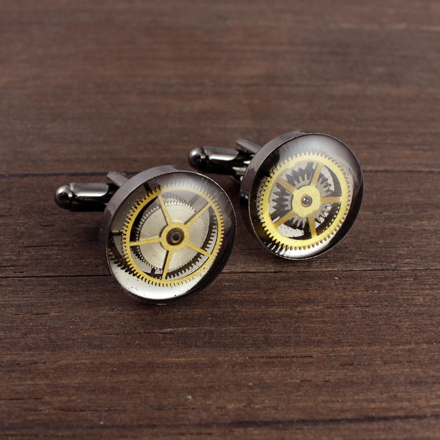 Steampunk cufflinks by nestre-jewellery