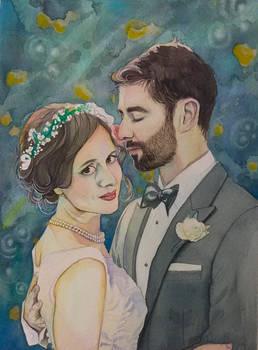 Ben and Gretchen, wedding portrait