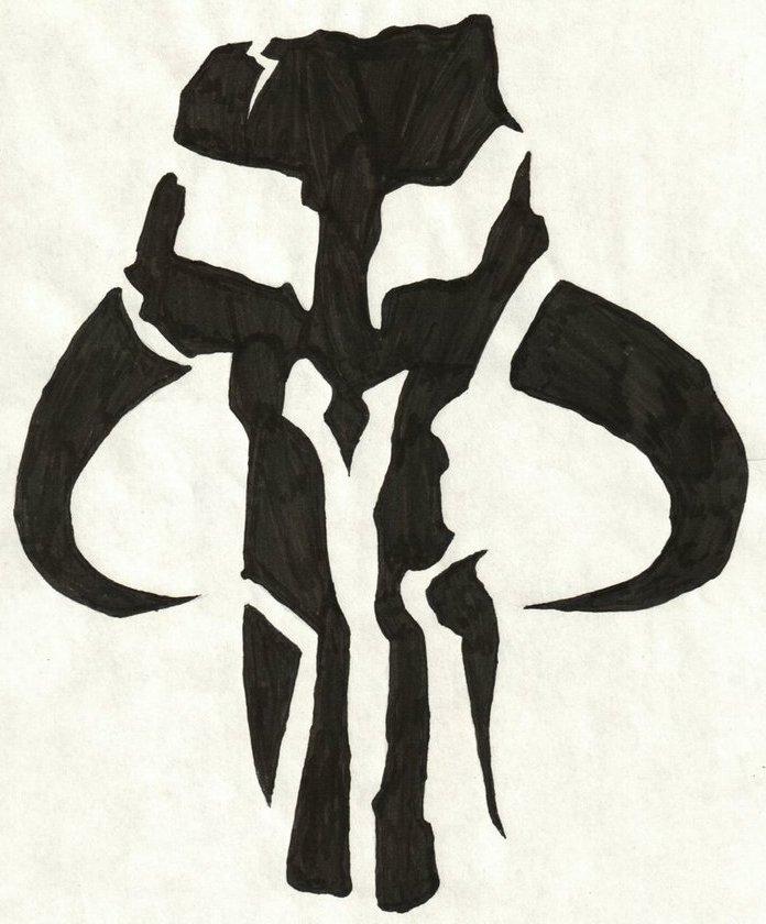 Mandalorian Mythosaur Symbol by DismalDIRGE on DeviantArt