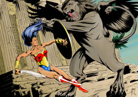 Wonder Woman vs Chimera final by vitorart