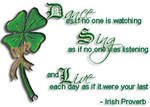 Simple Wisdom an Irish Proverb