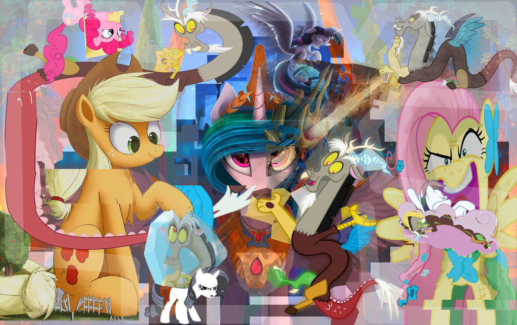 Discord Day Glitch Collage by shieldgenerator7