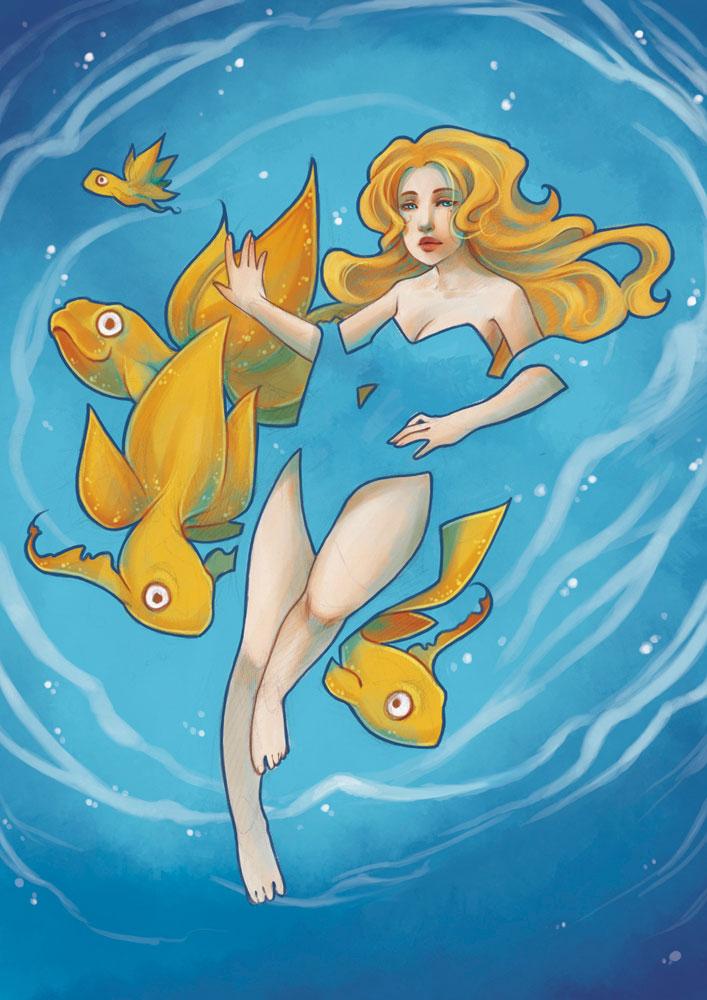 Comme un poisson dans l'eau by drawingum