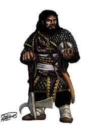 Ethiopian Fantasy Dwarfs scale armor warrior by thefeatheredsnake
