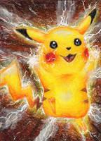 Pikachu by sockenzombie