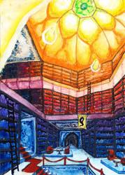 Ein Abend in der Bibliothek by sockenzombie