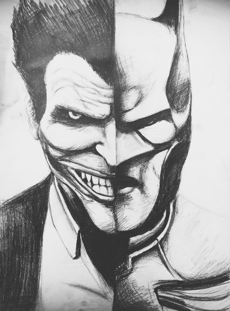 Batman and Joker - Two Face of Reality by Fluexpr34