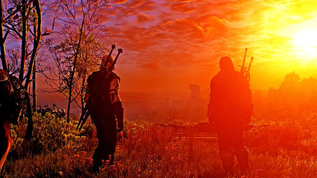 Geralt and Vesemir by Fluexpr34