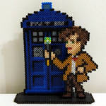 Doctor Who - 11th Doctor with TARDIS by ThisThatWithCat