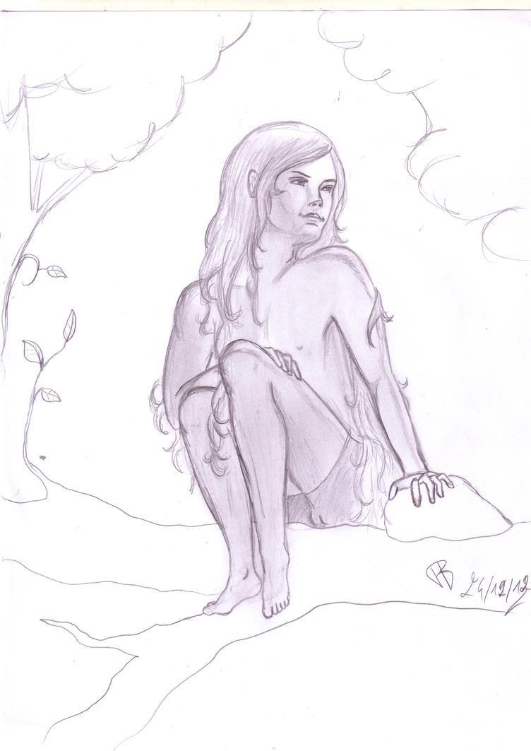 Boy in forest by Alphagoth