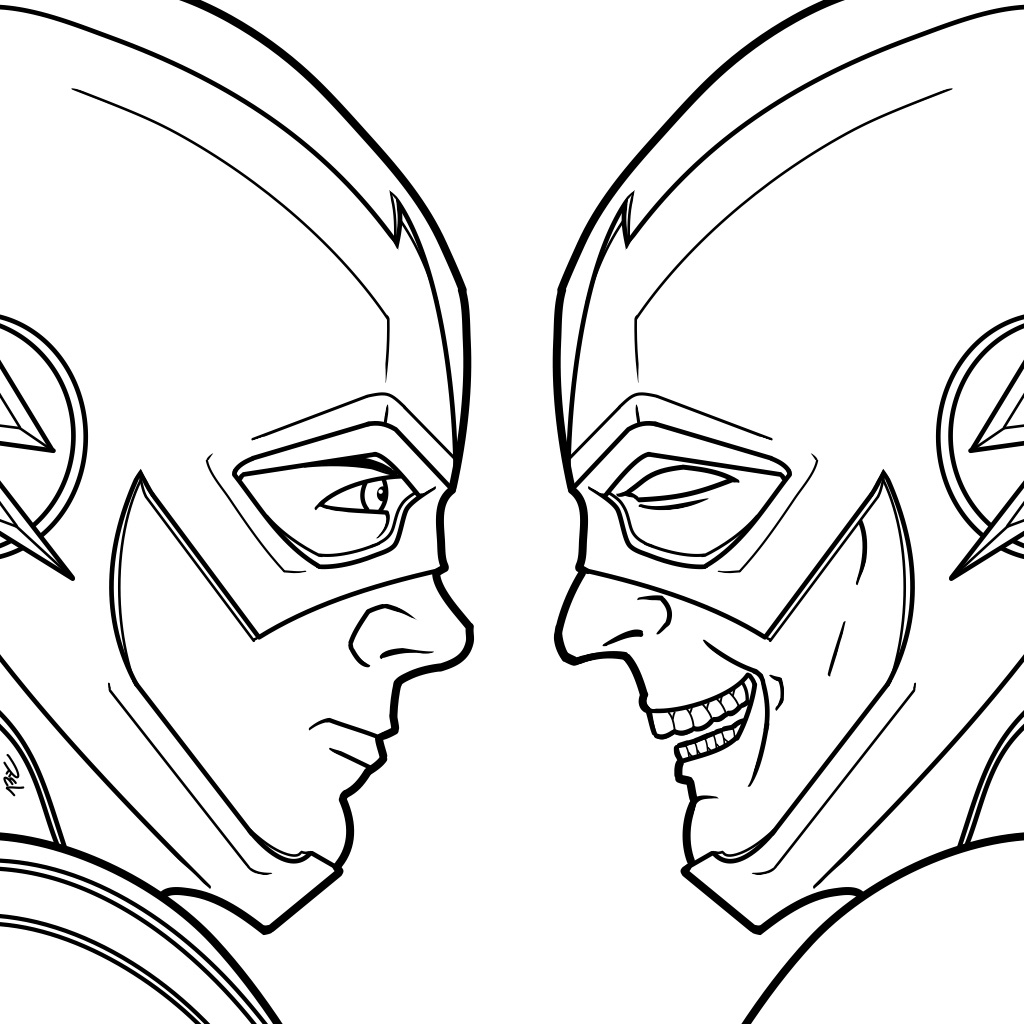 Zoom Flash Coloring Pages