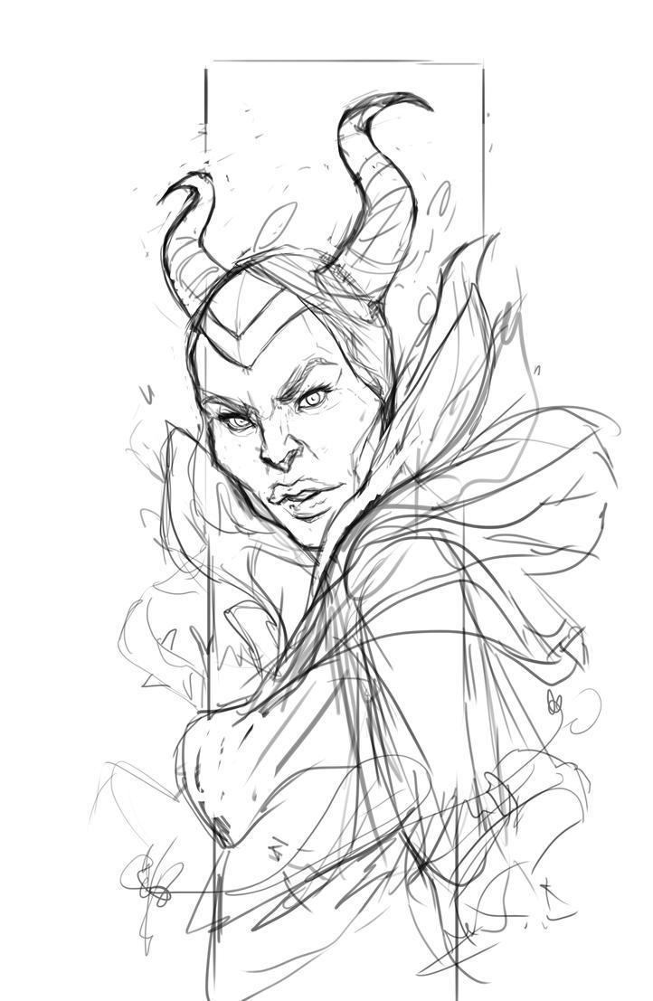 Lineart Maleficent by Devoratus