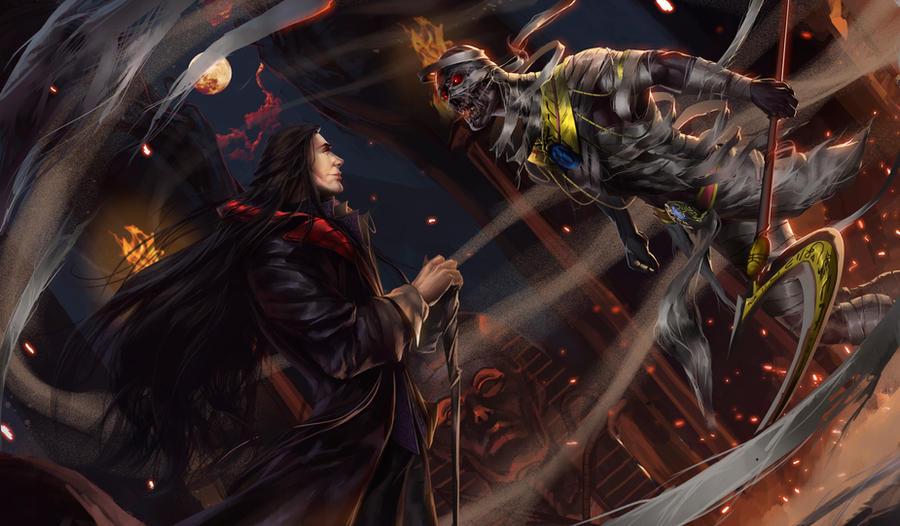 Dracula vs Mummy by Devoratus