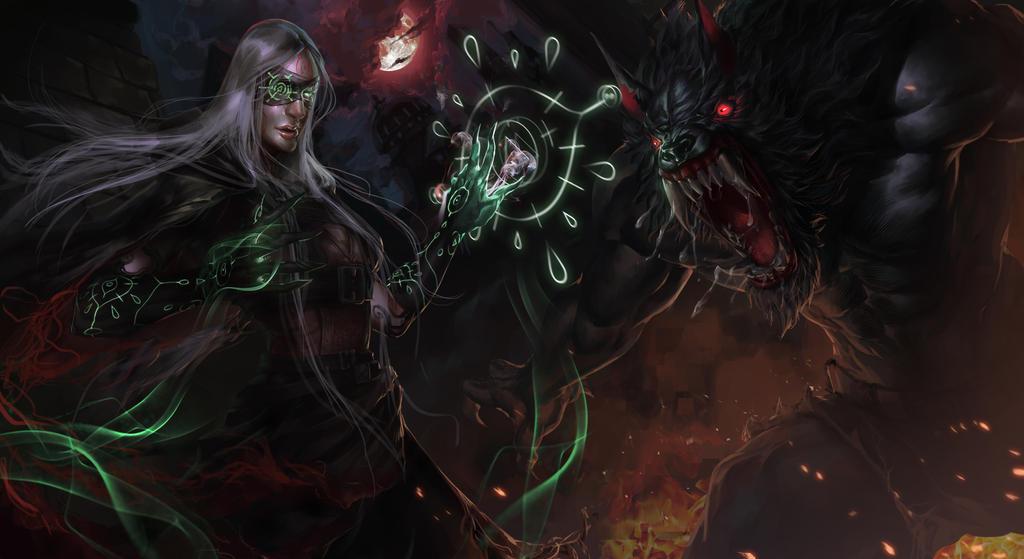 Witch vs Werewolf by Devoratus
