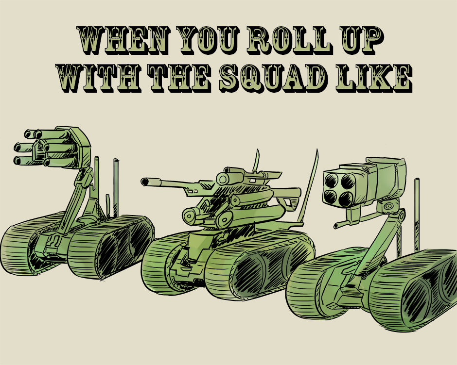 March of Robots 2017 day 19: Squad Unit by Russell-LeCroy
