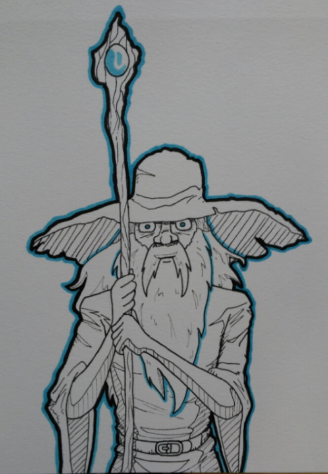 Inktober2017 day 18, Wizbiz by Russell-LeCroy
