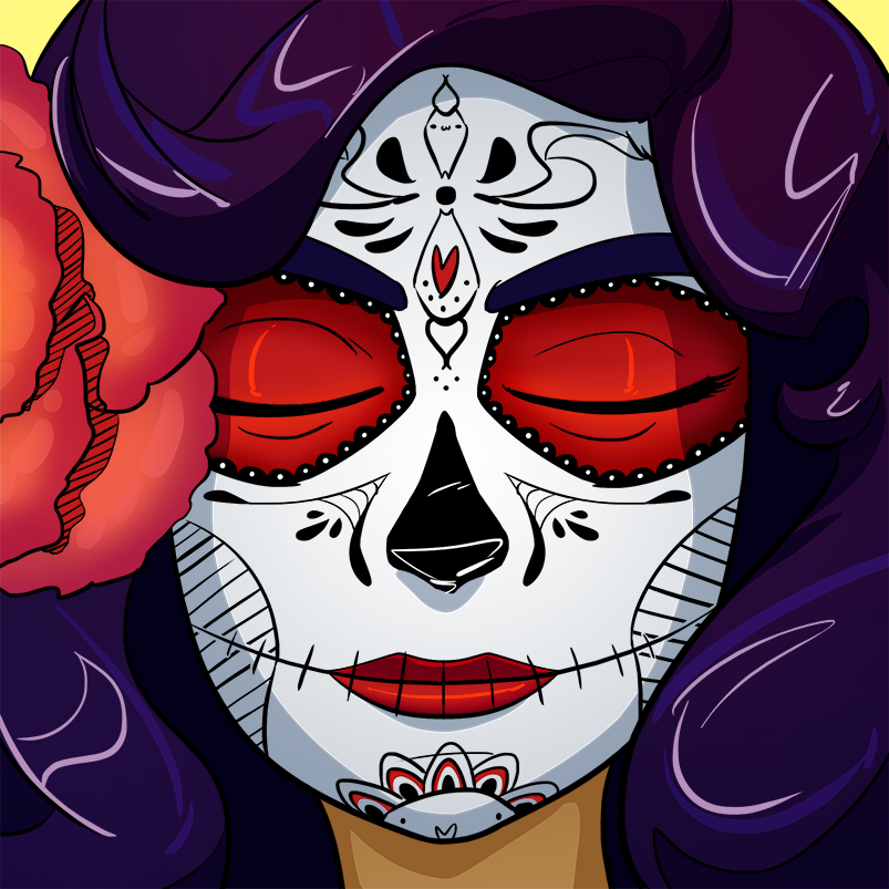 Inktober2017 Bonus, Day of the Dead by Russell-LeCroy