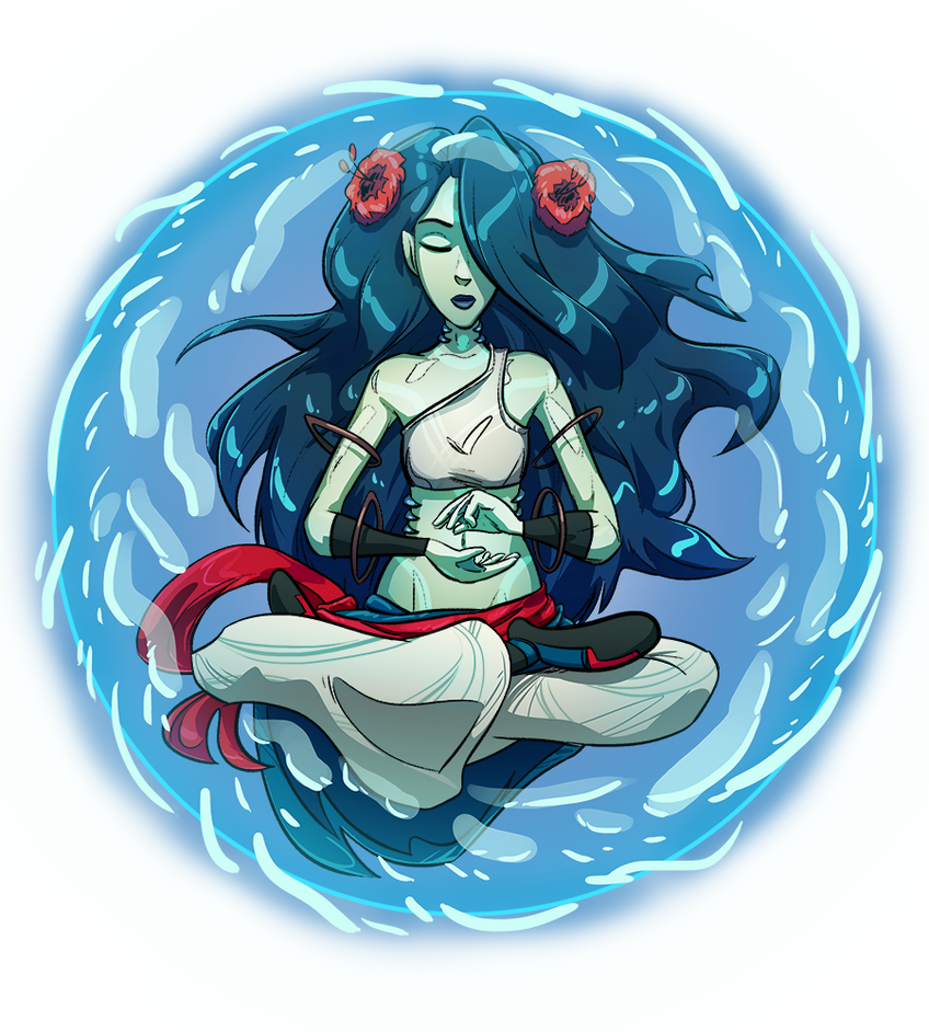 Bubble Meditation - Alani the Water Monk by Russell-LeCroy