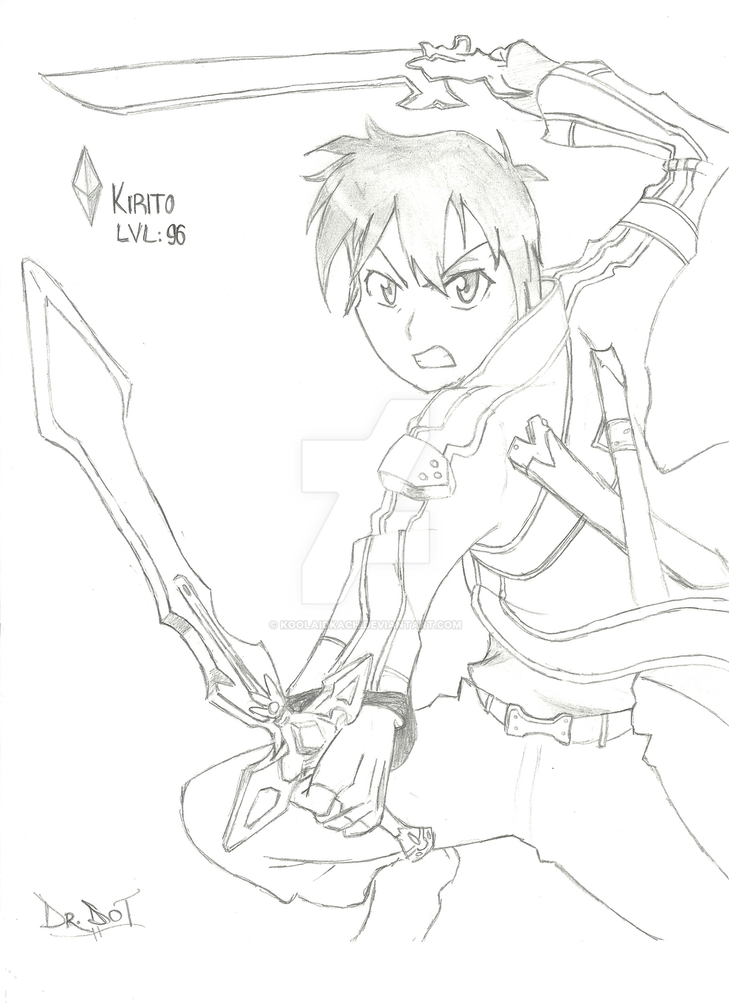 Kirito by KoolAidKach