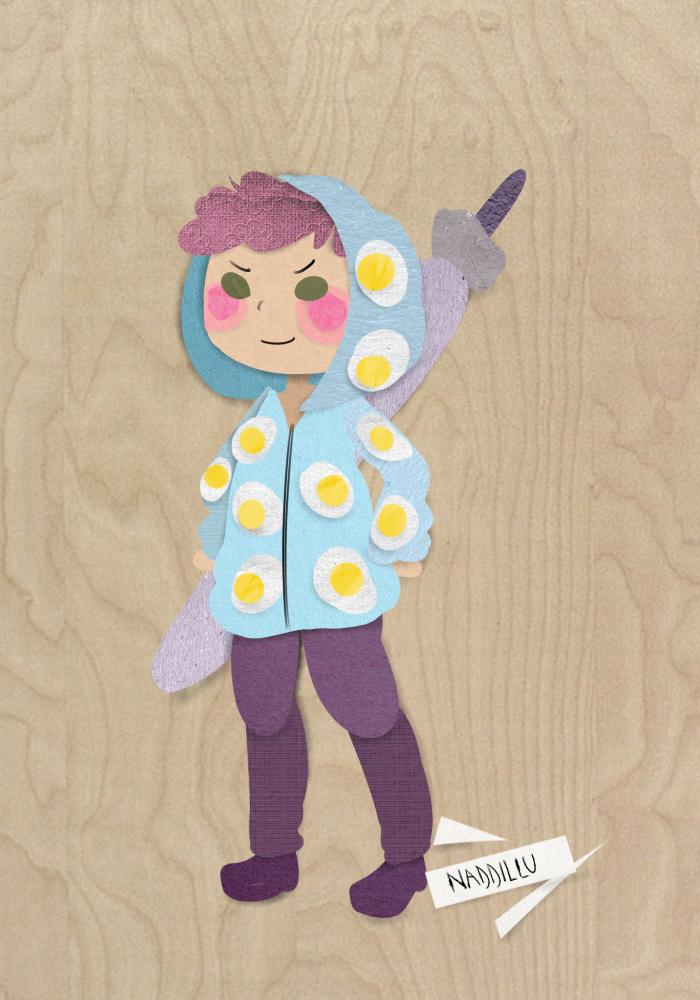 Raiden - paper doll by Naddillu