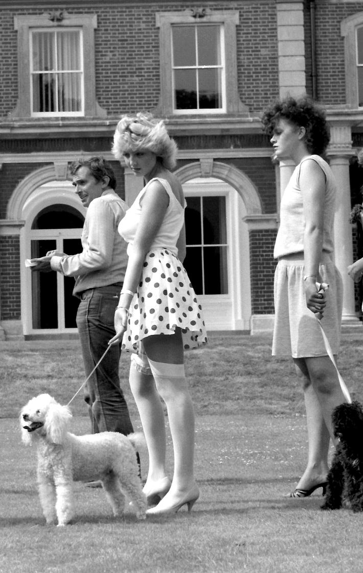 Hotties with doggies 1980's candid by Londonglamourtog
