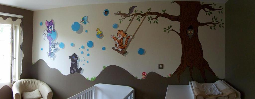 Fresque murale enfant by mioumioune on deviantart for Peinture murale enfant