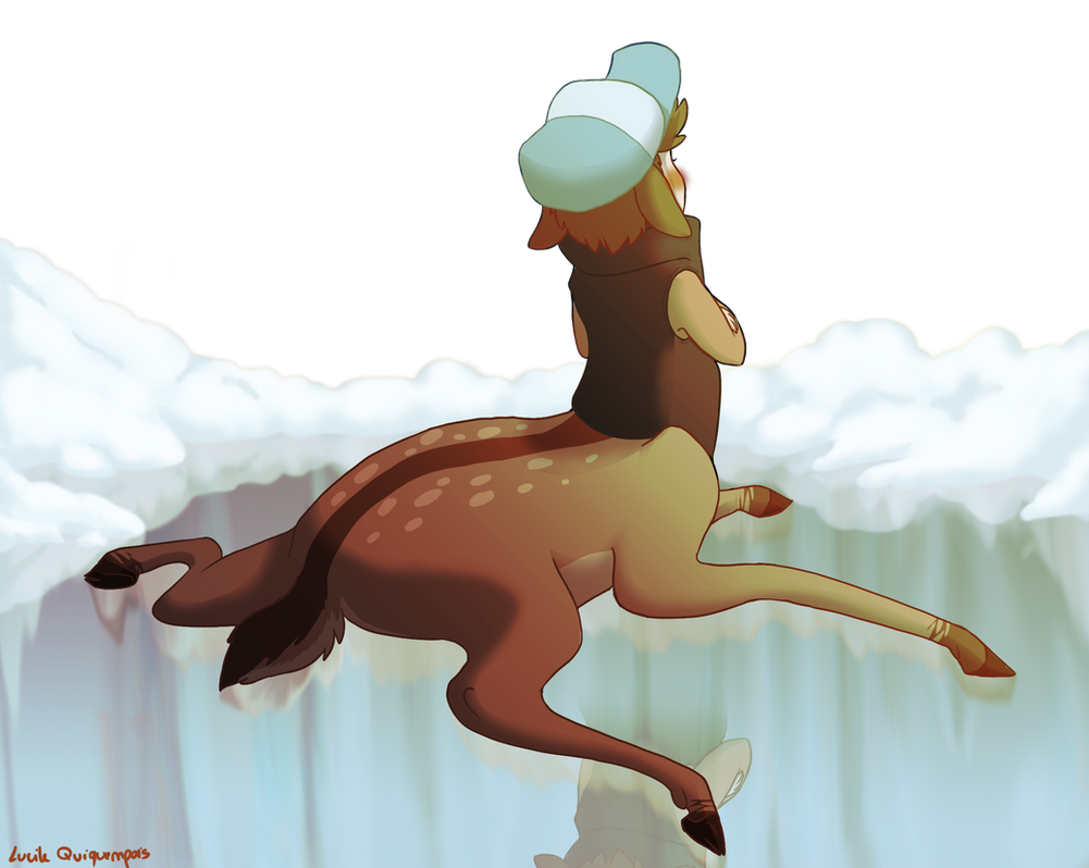 Deerper can't stand on ice by Mioumioune