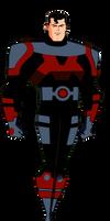 Superman flying (Apokolips armor without helmet)