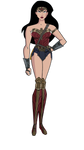 Updated Dawn of Justice Wonder Woman JLU Style