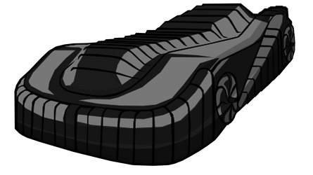 Batmobile shield mode (Batman Returns) by Alexbadass