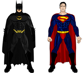 Tim Burton Batman and Superman from Superman Lives