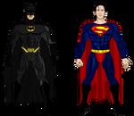Tim Burton Batman and Superman from Superman Lives