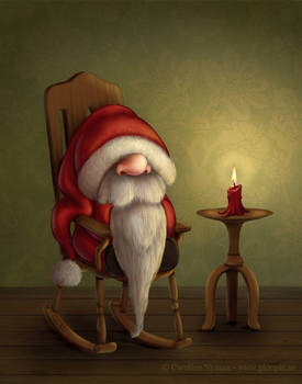 Little Santa in his rocking chair