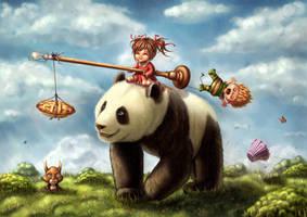 Panda ride by Ploopie