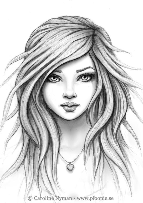 Angel Face Line Drawing : Felea by ploopie on deviantart