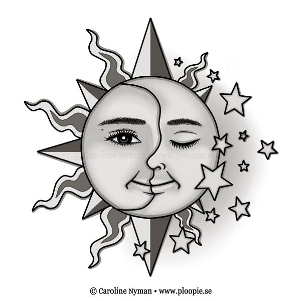 sun drawing tattoo moon design | ink | Pinterest | Design ...  |Sun And Moon Design Drawing