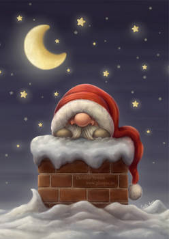Little Santa in a Chimney