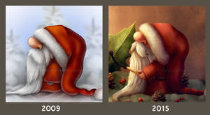Little Santa 2009 vs 2015