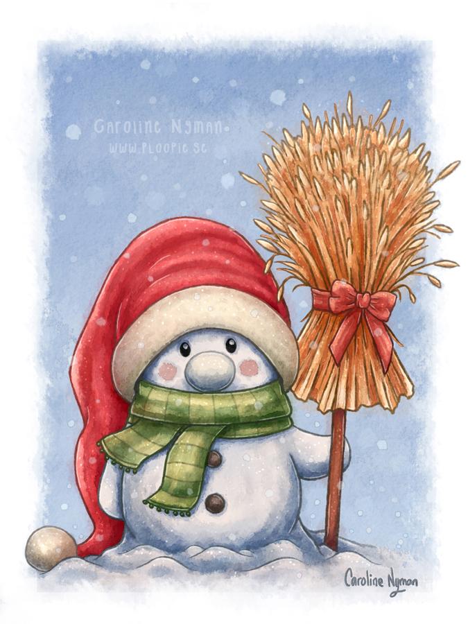 A Little Snowman by Ploopie