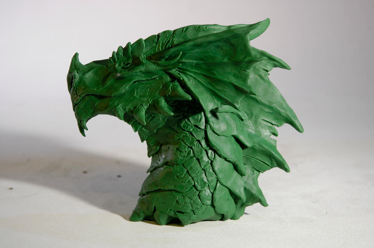 a green red dragon by maryarts