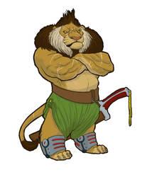 Awsome Warrior Lion Guy by maryarts