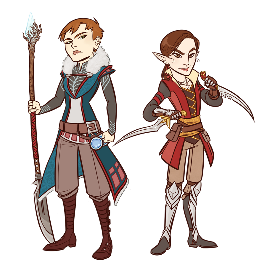 Healer and Assassin by AnArtistCalledRed