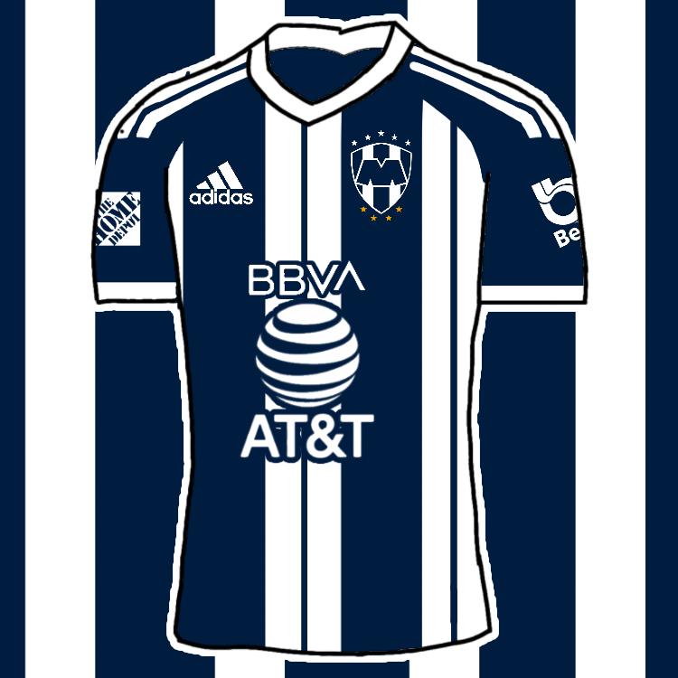 Rayados Monterrey By Adidas Home Kit by MaxRellik on DeviantArt
