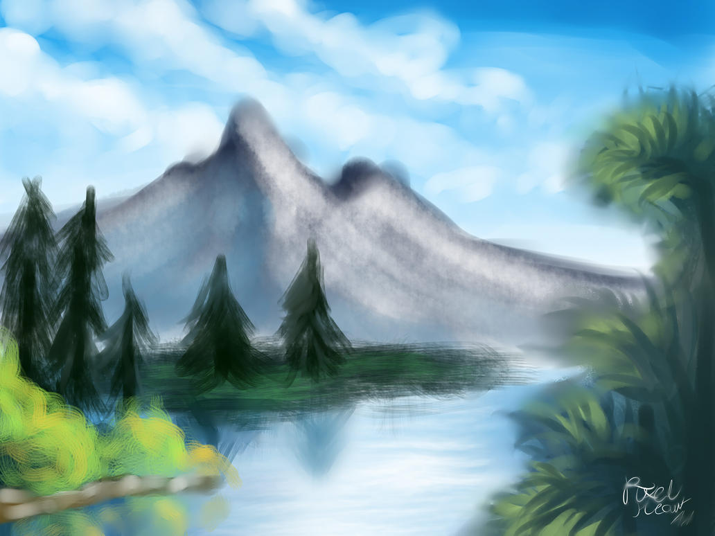 Tree trees and more trees 1st bob ross painting by tree trees and more trees 1st bob ross painting by pixelheartart voltagebd Choice Image