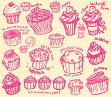 Cupcake Design Exploration by YukoTapioca