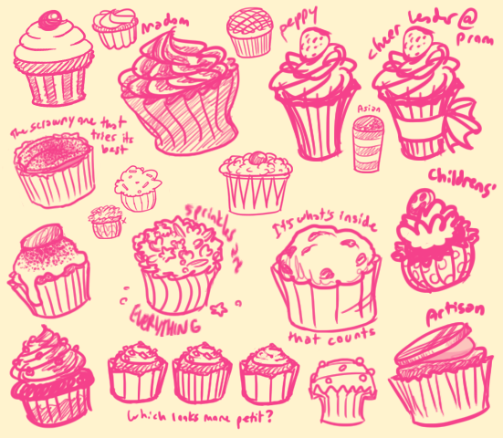 Cupcake Design Exploration by YukoTapioca on deviantART