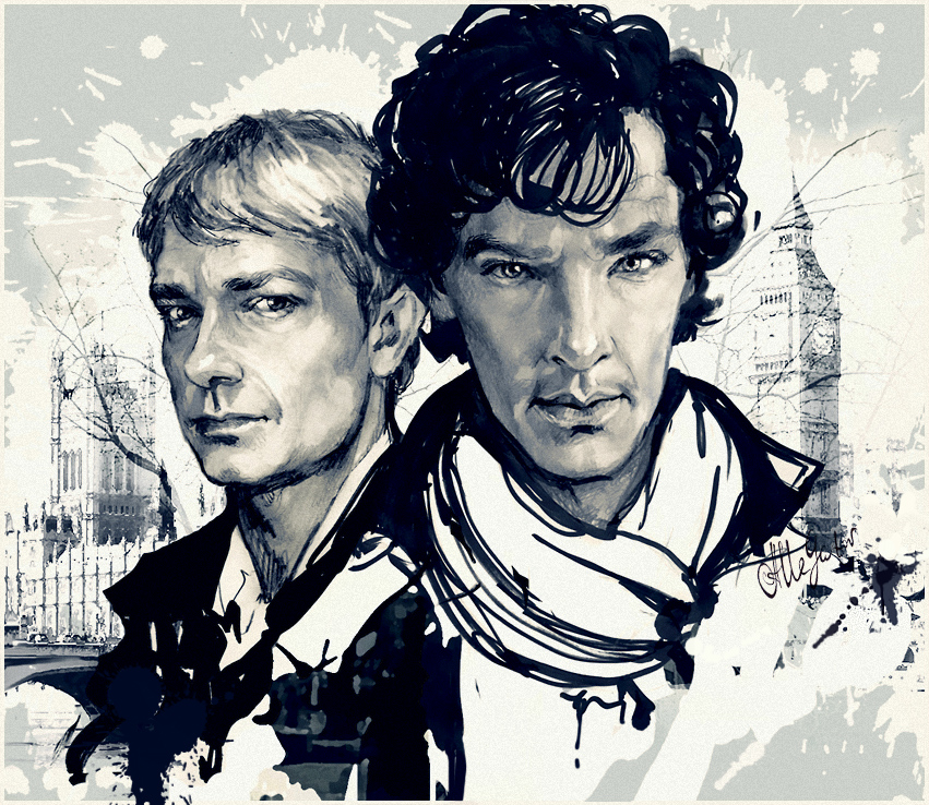 Sherlock and John by allegator