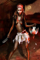 Voodoo Girl by allegator