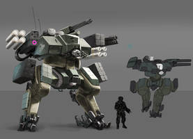 Military Mech by wedgeismyhero
