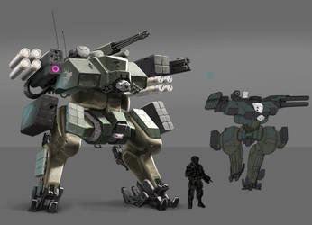 Military Mech by wedgeismyhero